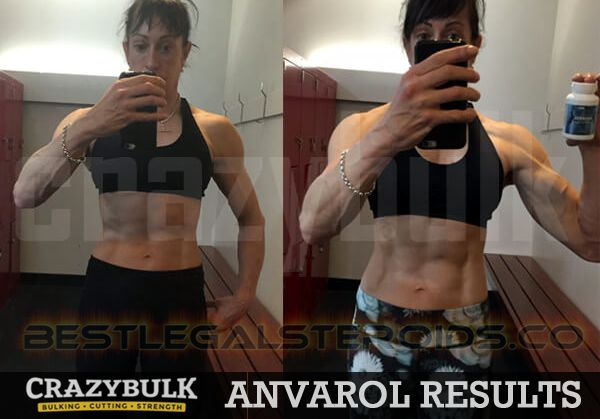 crazy bulk anvarol result legal steroids women user sheena before after