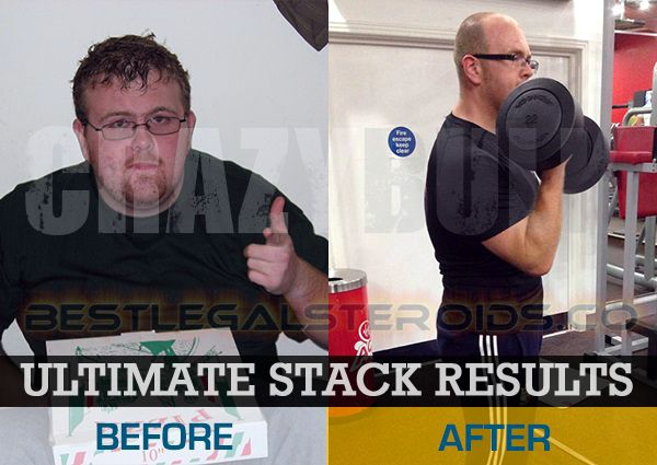 crazy bulk ultimate stack results legal steroids user before after